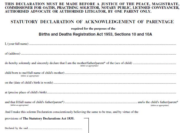 Anerkennung Vaterschaft Muster Vorlage Zum Download 10