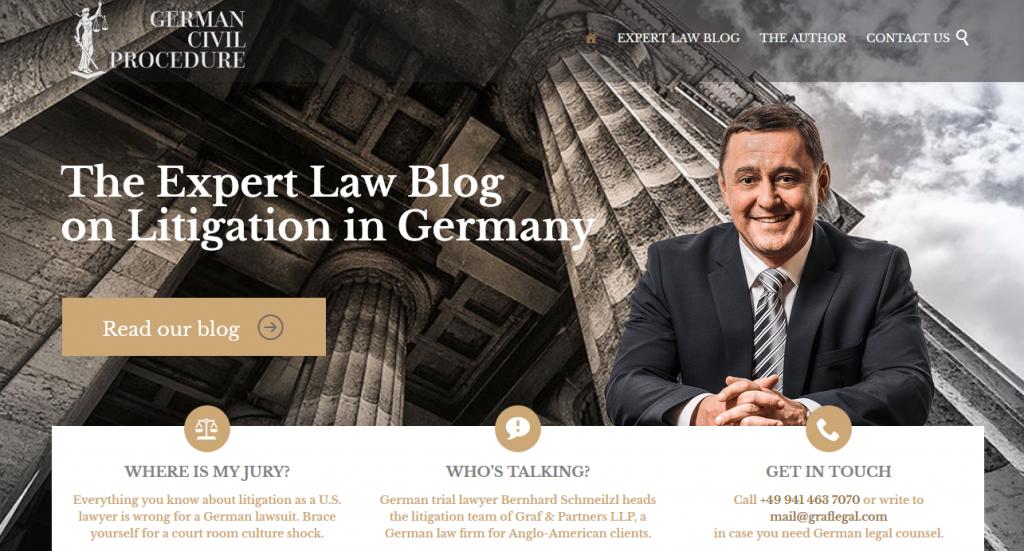 Blog zur deutschen ZPO auf Englisch