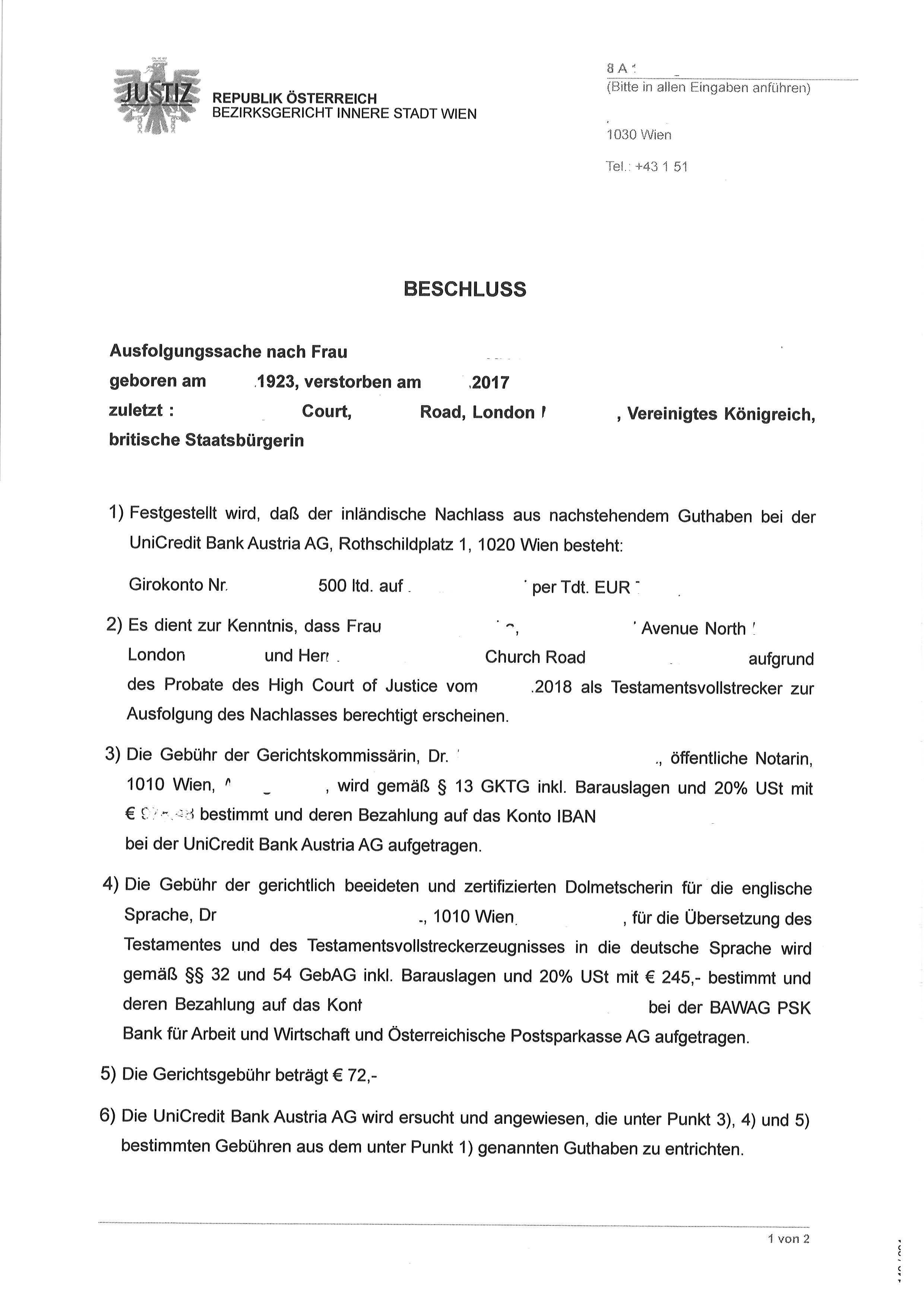Wie Bekommt Man Einen Erbschein In Osterreich Cross Channel Lawyers